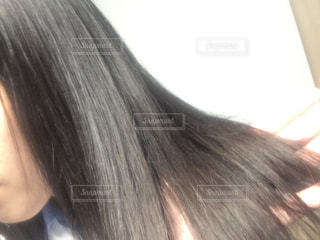 髪の毛のアップの写真・画像素材[1175725]