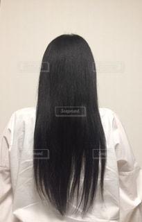 黒髪ロングヘアの写真・画像素材[2063877]