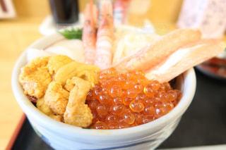 北海道函館で食べた海鮮丼の写真・画像素材[1500916]