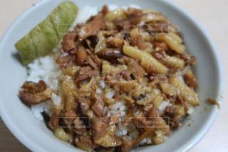 台湾で食べた魯肉飯の写真・画像素材[1501009]
