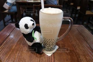 台湾で飲んだタピオカミルクティーの写真・画像素材[1501022]