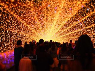光のトンネルの写真・画像素材[1057834]