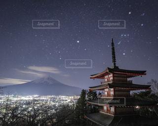 富士山夜景の写真・画像素材[1705315]