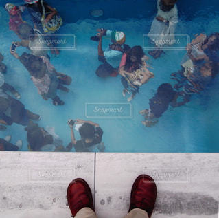 水の中の人々の写真・画像素材[806881]