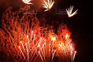 暗闇の中で爆発する花火の写真・画像素材[1430943]