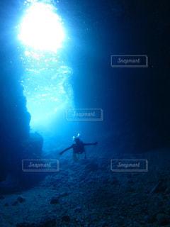 青の洞窟内部の写真・画像素材[586980]