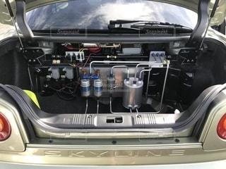 車のエンジンの写真・画像素材[1447064]