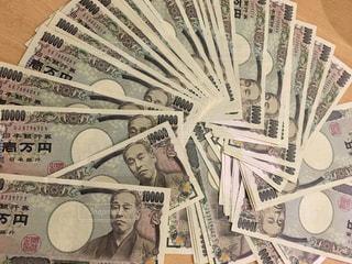 一万円札  一万円  お金  札  札束の写真・画像素材[587286]