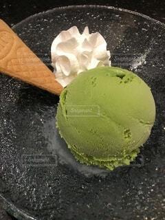 抹茶アイスクリーム!おいしい!デザートに最高!の写真・画像素材[3689895]