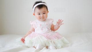 にこにこ赤ちゃんの写真・画像素材[881314]