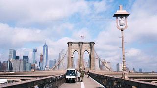 ニューヨークの観光 ブルックリンブリッジの写真・画像素材[1019534]