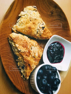 ブルーベリーを使った食事の写真・画像素材[1482876]