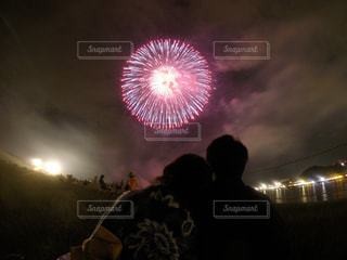 空に花火の写真・画像素材[1370418]