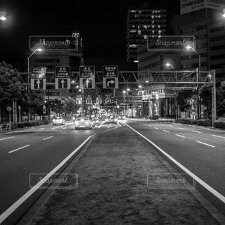 夜の空とハイウェイ - No.847286