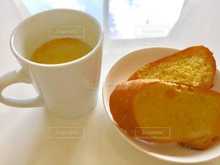 クローズ アップ食べ物の皿とコーヒー カップ - No.711091
