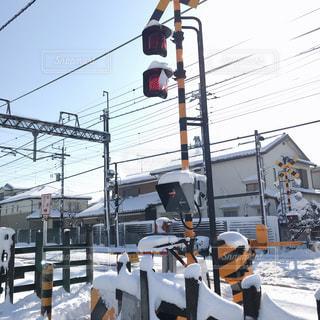 雪に覆われた鉄道の写真・画像素材[1016458]