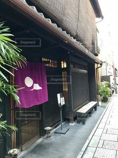 京都の暖簾が印象的な素敵cafeの写真・画像素材[1604516]