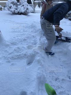 雪かきの写真・画像素材[990129]