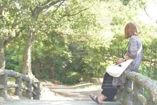 本人 人物 女の子 女子 カメラ女子 吊橋 - No.598381