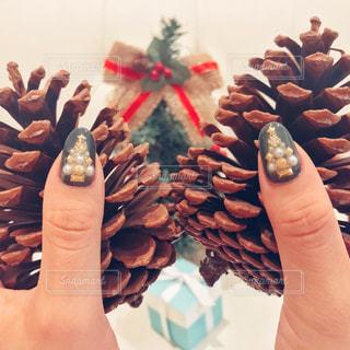 クリスマスネイルの写真・画像素材[914877]