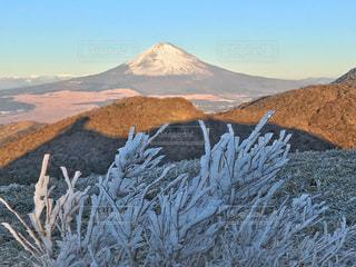 雪の覆われた山々 の景色の写真・画像素材[1225910]