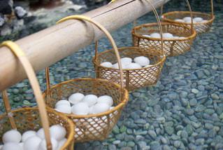 できたて温泉卵の写真・画像素材[934610]