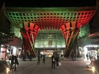 金沢駅ライトアップの写真・画像素材[1748314]