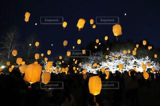 LEDスカイランタンの写真・画像素材[2042468]