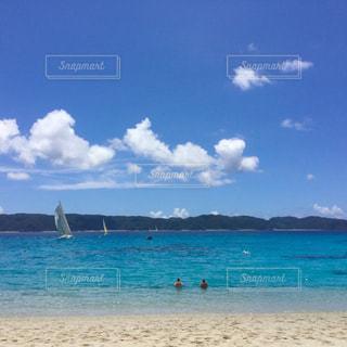 青空  青い海  きれい  沖縄  南国  夏の写真・画像素材[600927]