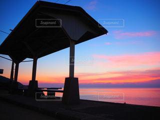 下灘駅のマジックアワーの写真・画像素材[958004]