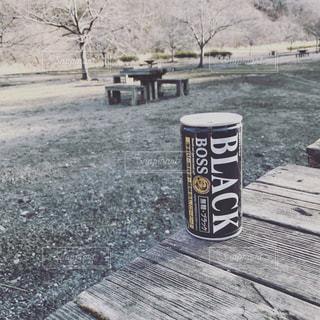 缶コーヒー、公園の写真・画像素材[603223]