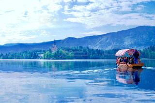 スロヴェニアのブレッド湖の写真・画像素材[755765]