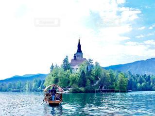 スロヴェニアのブレッド湖の写真・画像素材[755766]