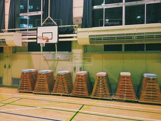 学校の体育館 跳び箱の写真・画像素材[651588]