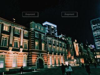 東京駅のライトアップ - No.953499