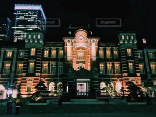 東京駅のライトアップ - No.953503