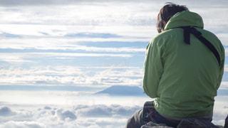 山頂からの雲海の写真・画像素材[969408]