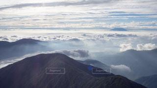 山頂からの雲海の写真・画像素材[969411]