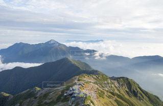山頂からの雲海の写真・画像素材[969412]
