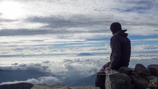 山頂からの雲海の写真・画像素材[969430]