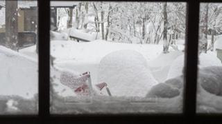 雪に覆われたウィンドウの写真・画像素材[969434]