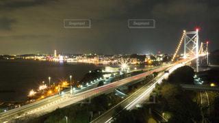 関門海峡大橋の夜景の写真・画像素材[969453]