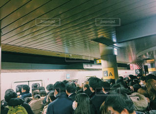渋谷駅混雑の写真・画像素材[977071]