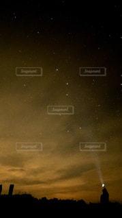 星空の下の写真・画像素材[1047586]