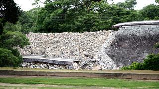 熊本城 熊本地震の写真・画像素材[1052281]
