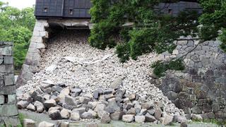 熊本城 熊本地震の写真・画像素材[1052282]