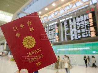 パスポート 空港の写真・画像素材[1068865]