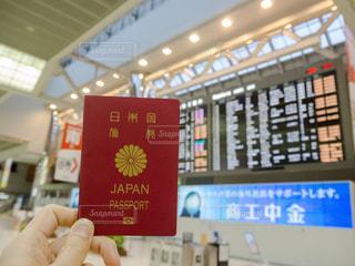 パスポート 空港の写真・画像素材[1068879]