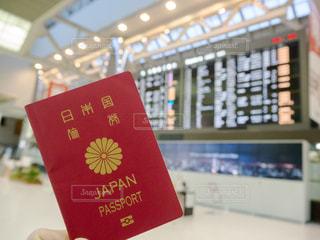 パスポート 空港の写真・画像素材[1068880]