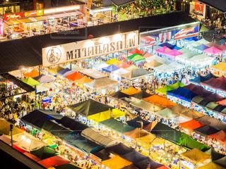 タイ ナイトマーケットの写真・画像素材[1068885]